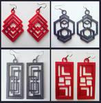 3D printed earrings no.2