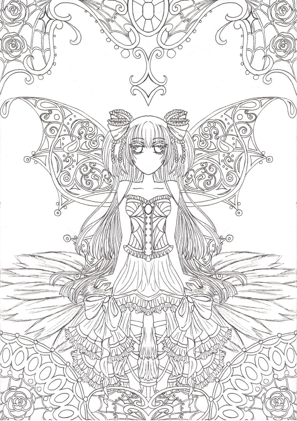 Fairy Outline Drawings Reupload: fairy outlines by