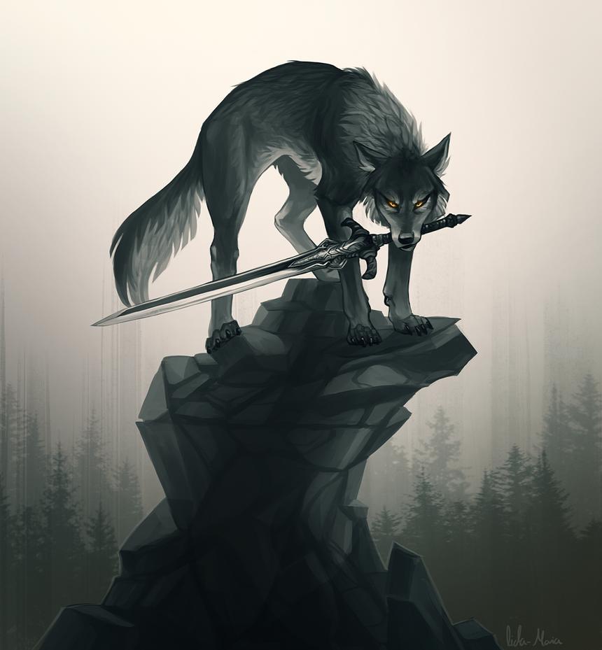 Great Grey Wolf Sif by Helmiruusu