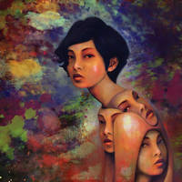 She Dreams in Color by AppleCatStudio