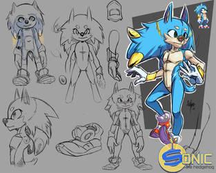New Sonic Concept by SpookyLotus