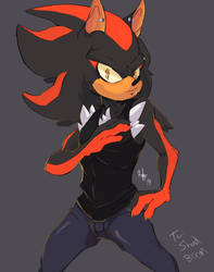 Shadow Colored Sketch Commission by SpookyLotus