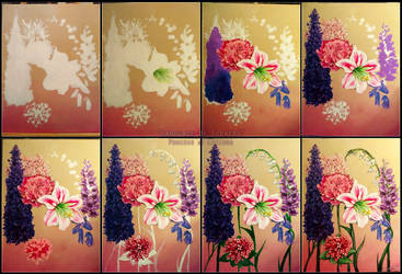 Flowers Painting Process by Lexidus