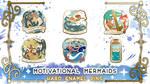 Motivational Mermaids - Enamel Pins by Lexidus