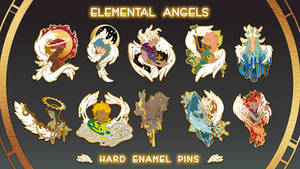 Elemental Angels - Enamel Pins