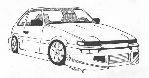 '86 Corolla GTS AE86 by otokage87