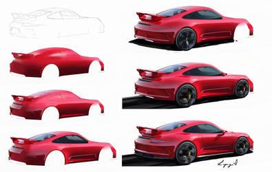 Porsche steps by MikaelLugnegard
