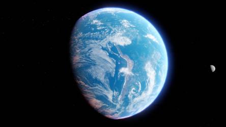 Earth and Moon by MetamorpheSTLK