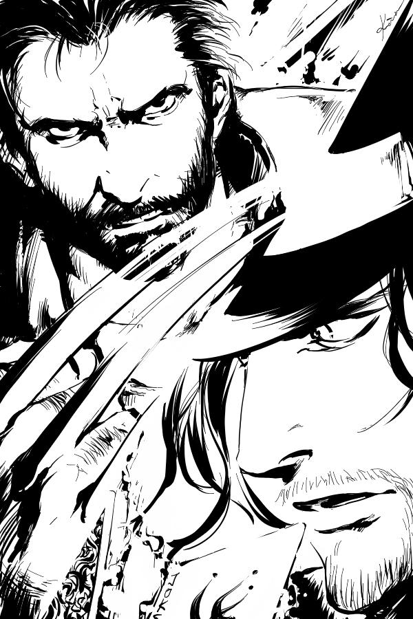 Wolverine VS Gambit by jjkuin