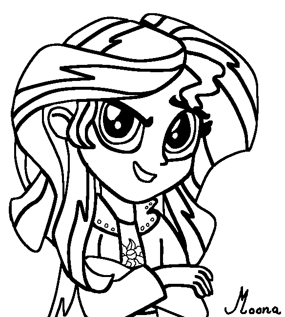 sunset shimmer coloring pages | Coloring Pages Sunset Shimmer Transformation Coloring Pages