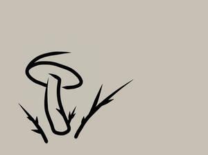 Mushroom Line Art
