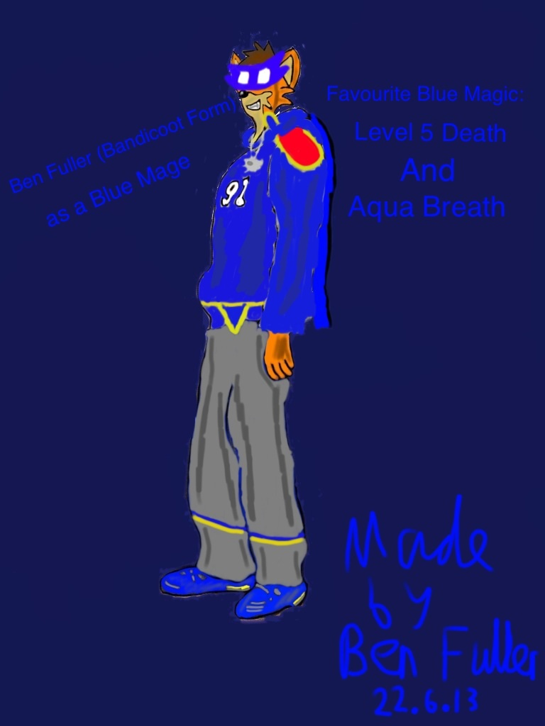 Ben Fuller Blue Mage profile (Bandicoot version) by BenBandicoot