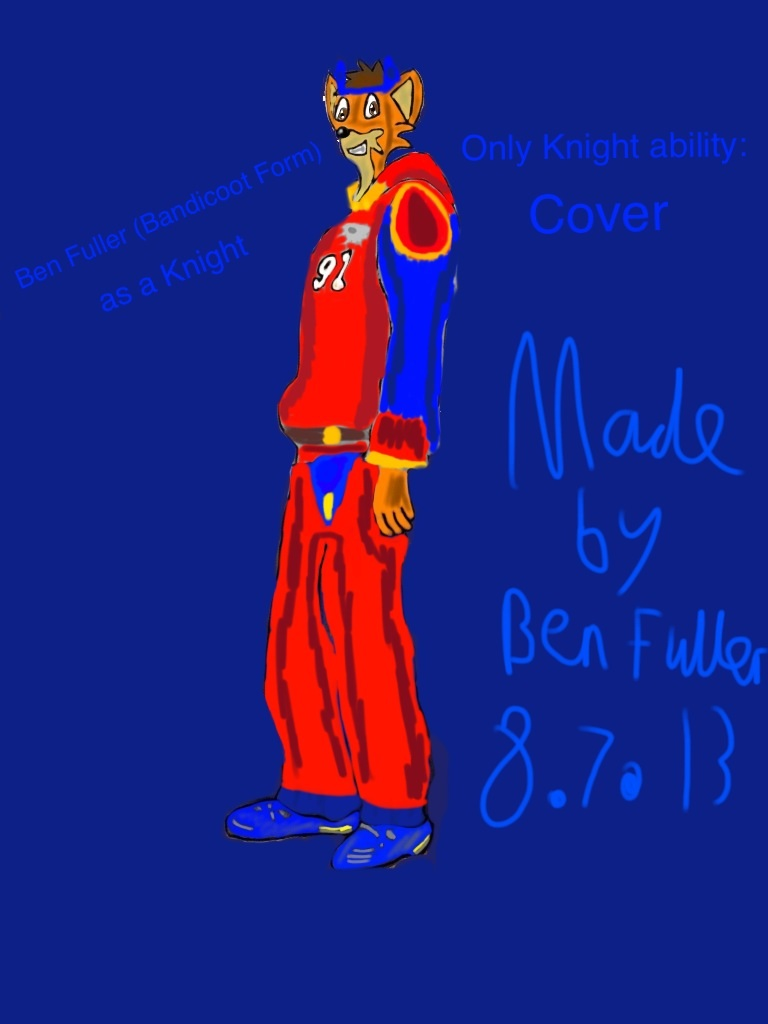 Ben Fuller Knight profile (Bandicoot version) by BenBandicoot