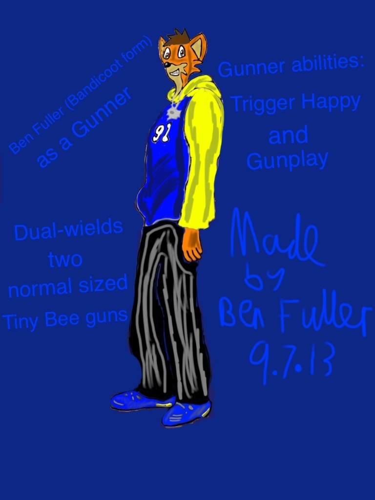 Ben Fuller Gunner profile (Bandicoot version) by BenBandicoot