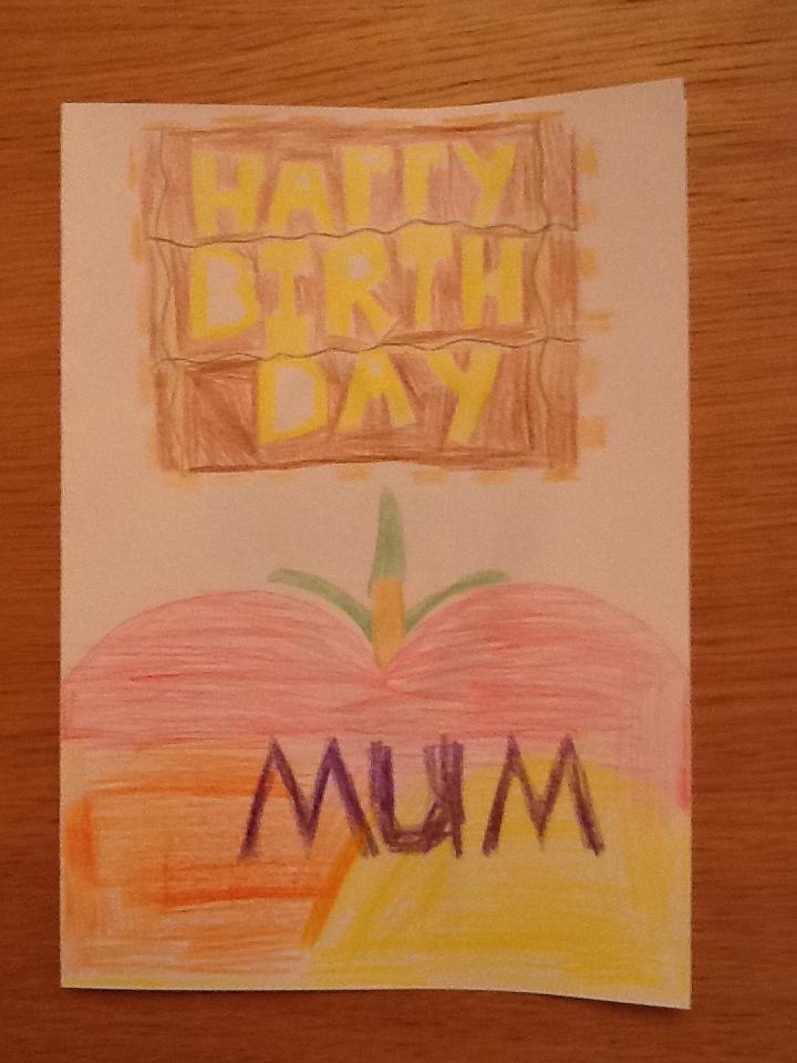 Mum's Birthday card front by BenBandicoot
