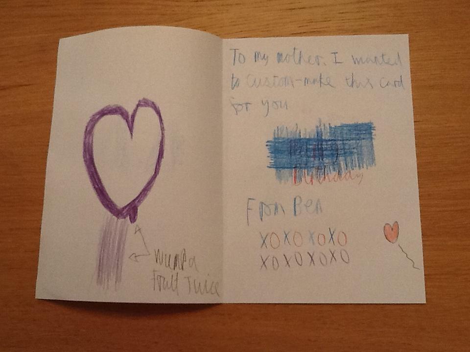 Mum's Birthday card middle by BenBandicoot