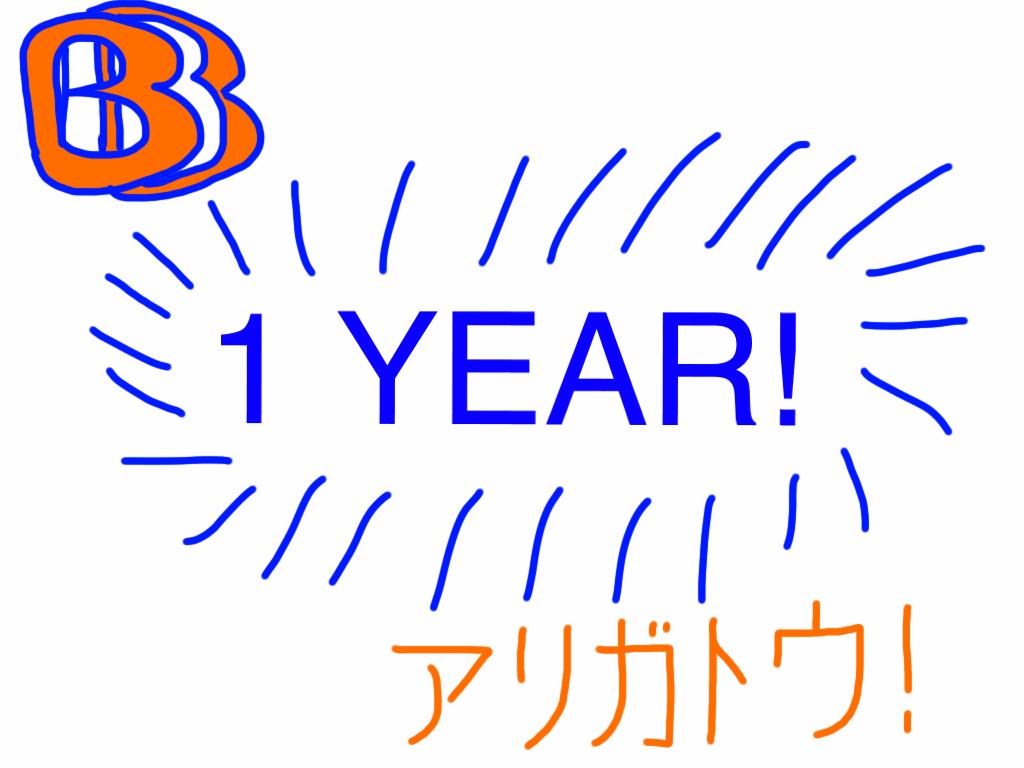 1 YEAR! by BenBandicoot