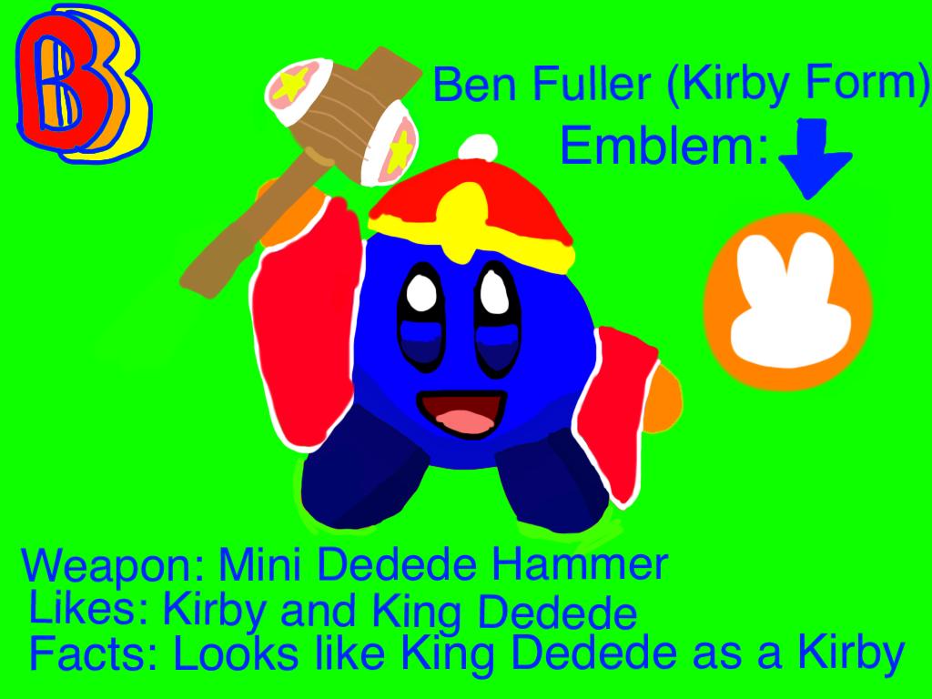 Ben Fuller (Kirby Form) by BenBandicoot