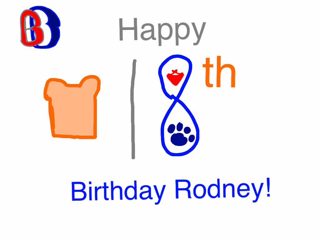 Rodney Birthday Gift 2015 by BenBandicoot