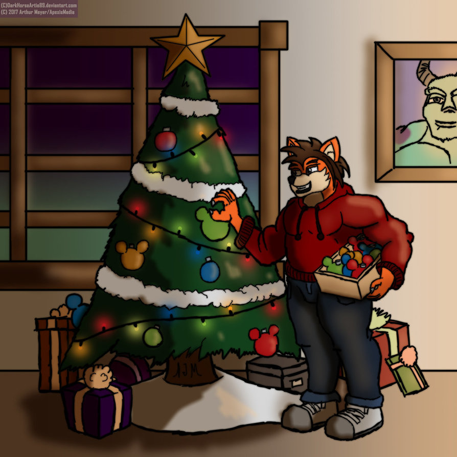 Decorating the tree by DarkHorseArtie89 by BenBandicoot