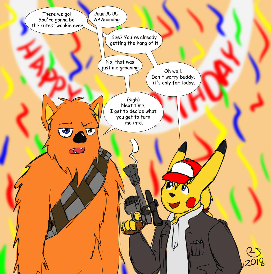 Wookie for a Birthday by CaseyLJones by BenBandicoot