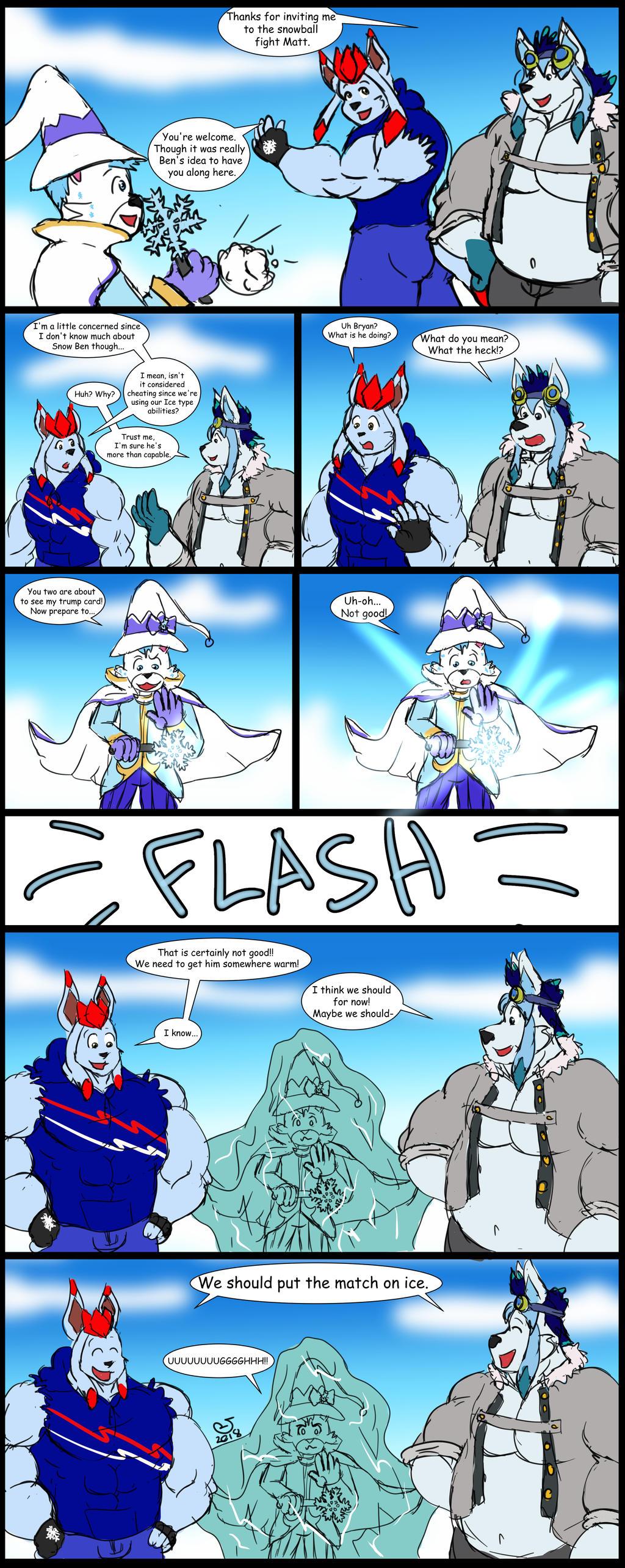 Snowball Fight (Ben Version) by CaseyLJones by BenBandicoot
