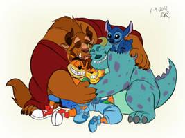 Group Hugs for Ben by RetroUniverseArt by BenBandicoot