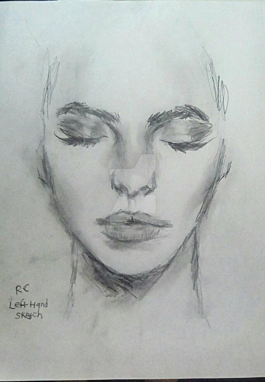 Face Sketch - Left Hand By LightheartedLoki On DeviantArt