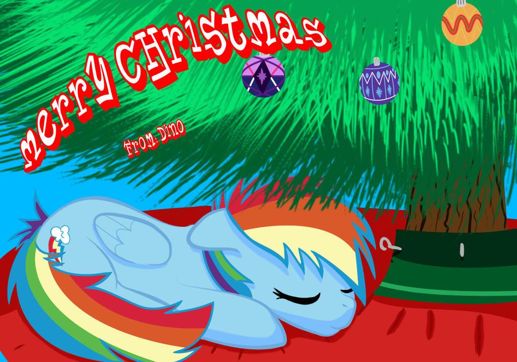 Rainbow Dash Christmas Card by Schadenpony on DeviantArt