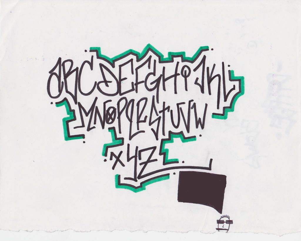 graffiti alphabet by atomicmufin on deviantart