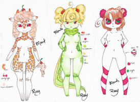 : Candy Adoptable Set : by Row-chan