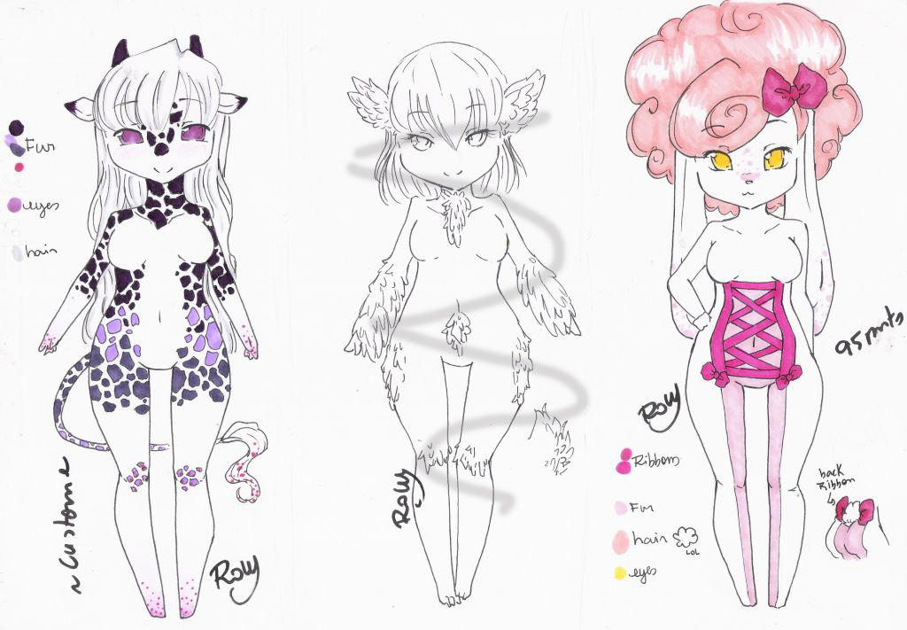 : Custom Adopt 17 and Adopts :. by Row-chan