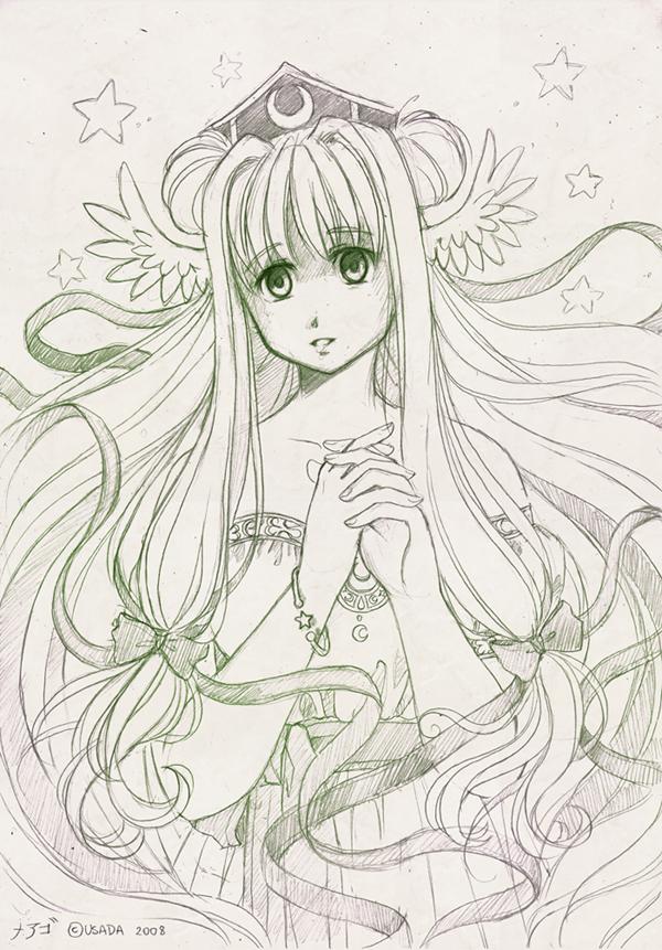 SeleneTheGoddessOfMoon-sketch by meago