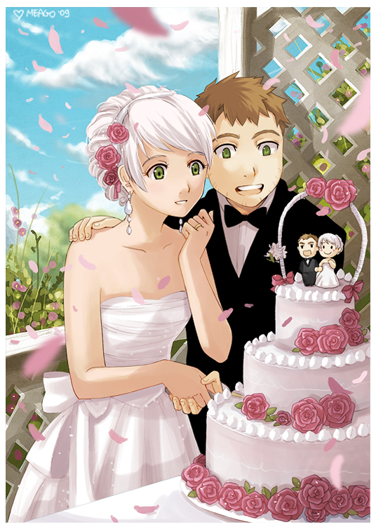 Anime Couple Getting Married Just By Meago On Deviantart