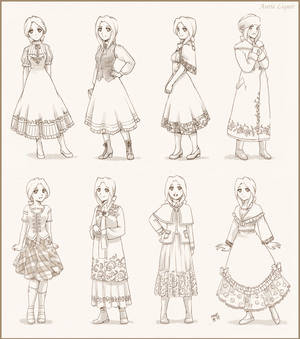 Auries dress sketches