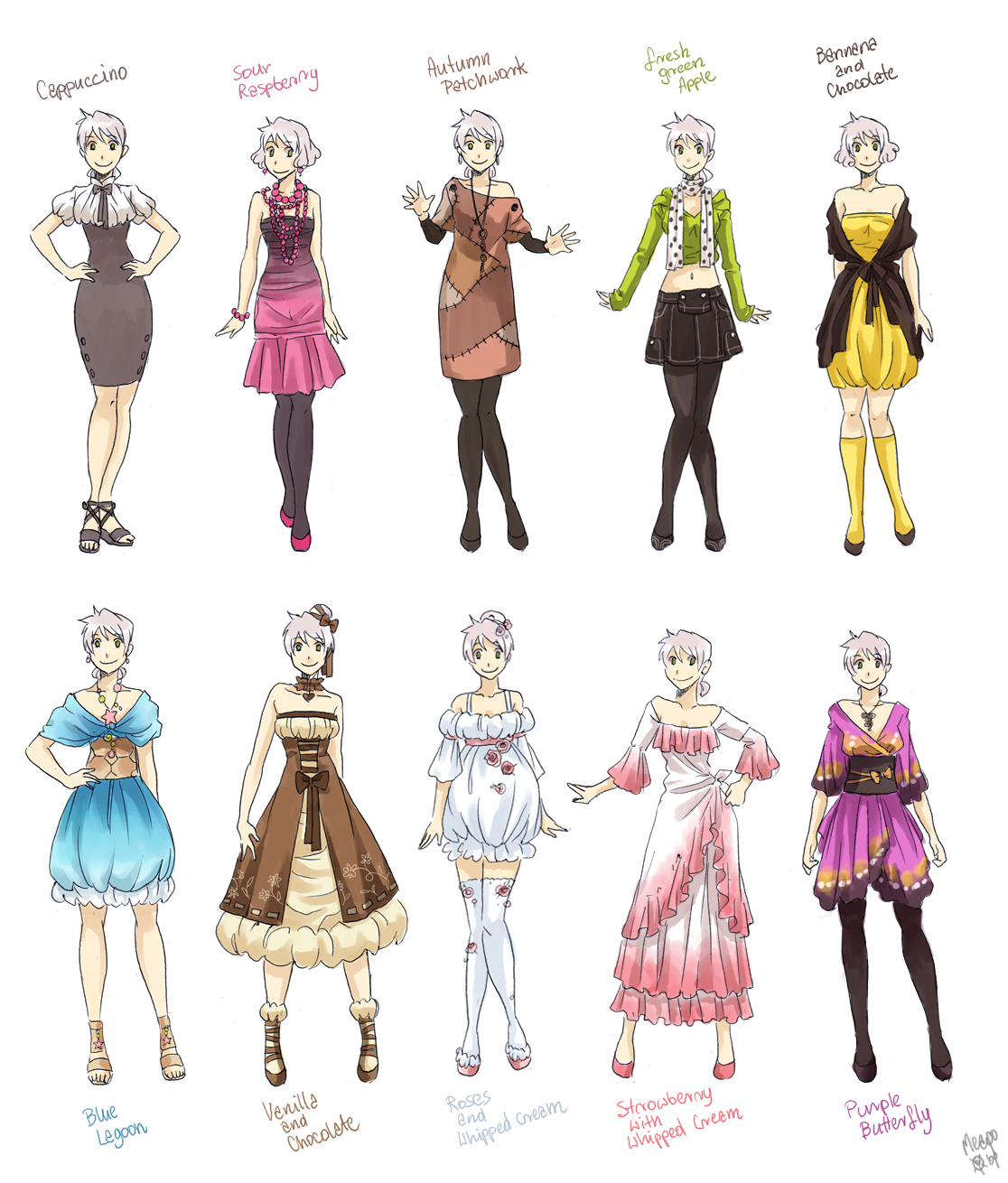 Various Female Clothes By Meago On Deviantart