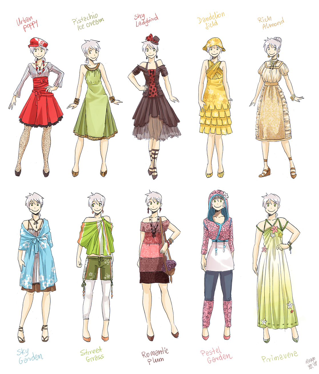Various female clothes 3 by meago on deviantart - Fashion manga ...