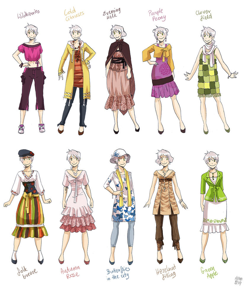 Various female clothes 4 by meago on DeviantArt