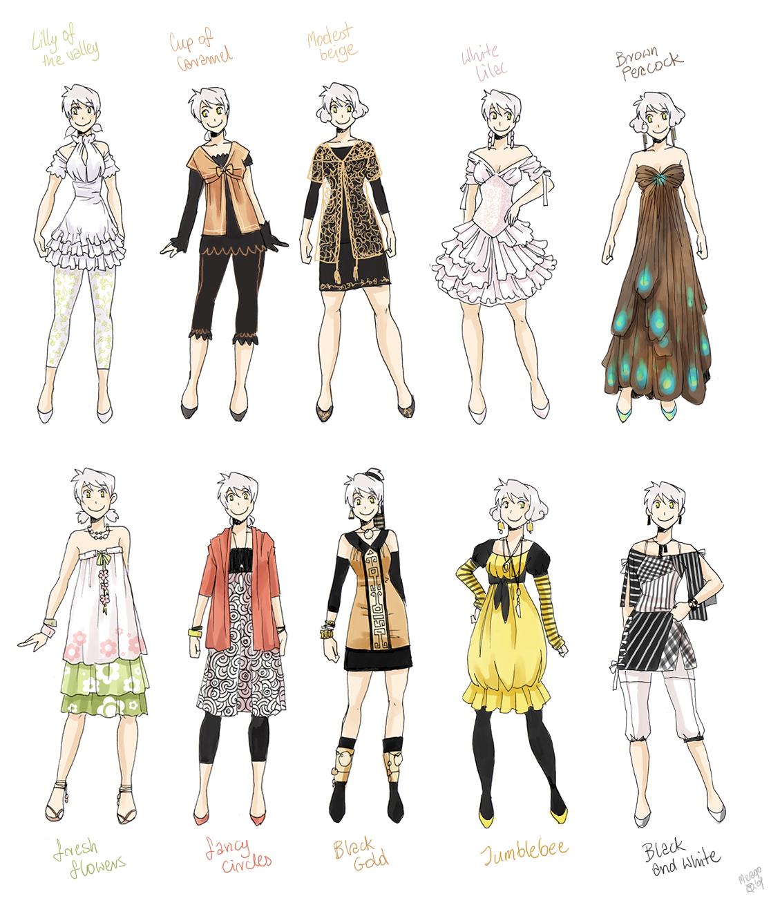 anime girl clothing styles