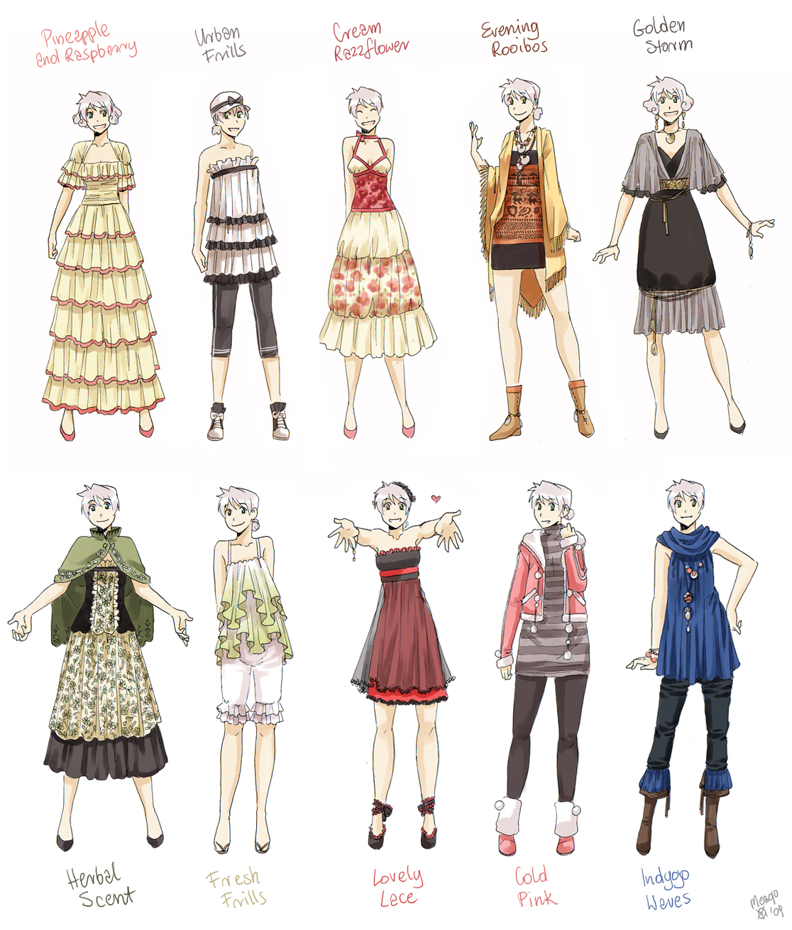 Various Female Clothes 7 By Meago On Deviantart