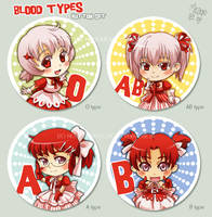 Blood types button set by meago
