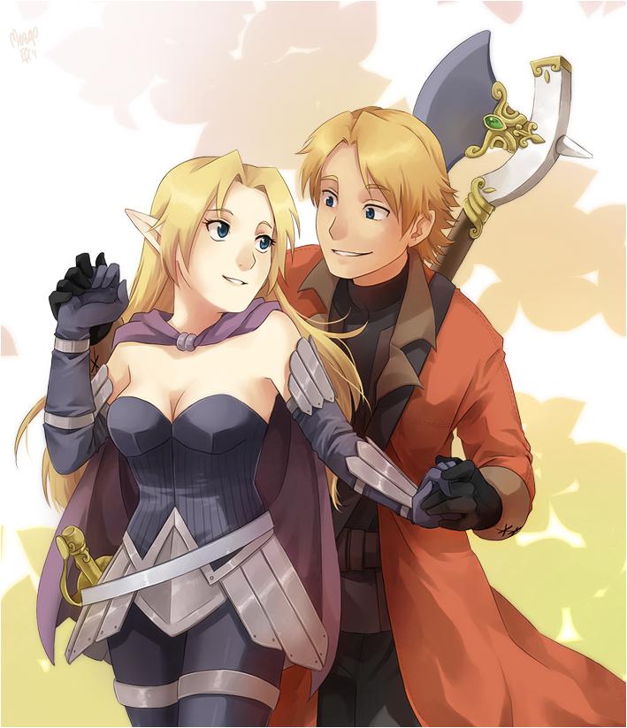 TamTu and Lyndalae by meago