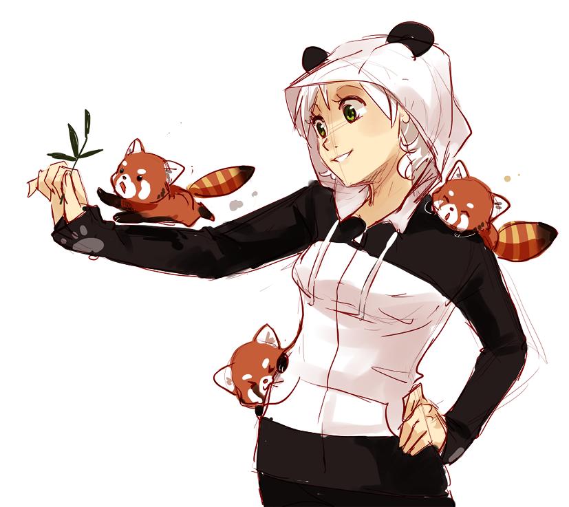 panda hoodie by meago