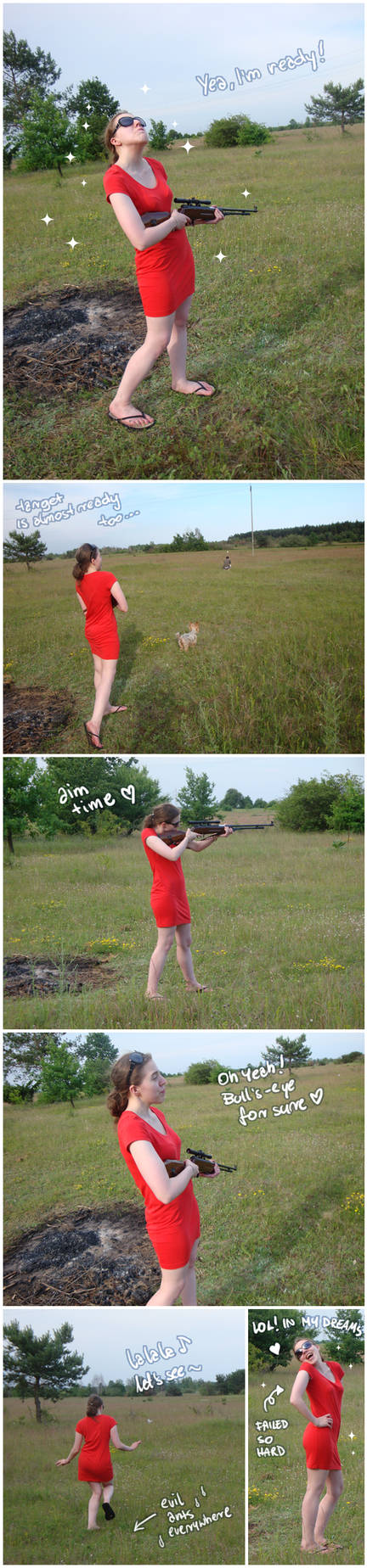 Just having fun with air rifle XD