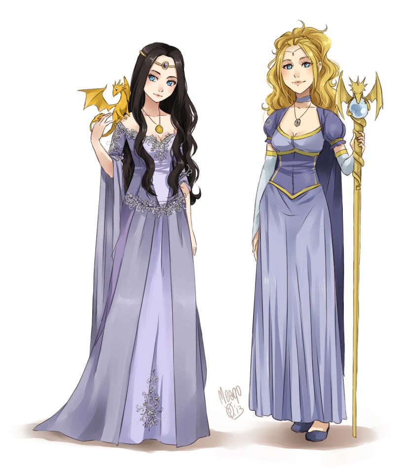 Luciana and Kaliya by meago
