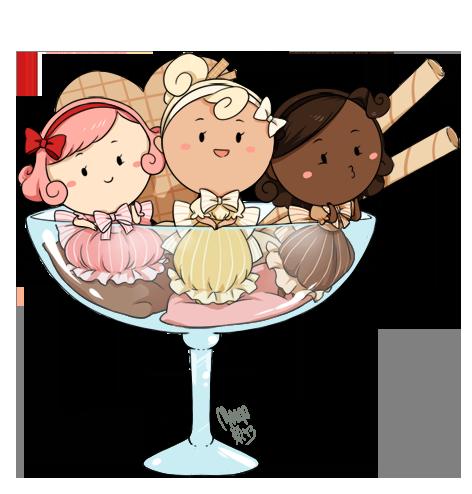 Neapolitan ice cream by meago on deviantart - Ice cream anime girl ...