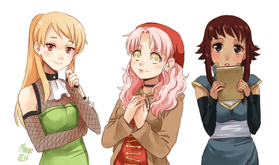 Kaiya Rini and Kaori by meago