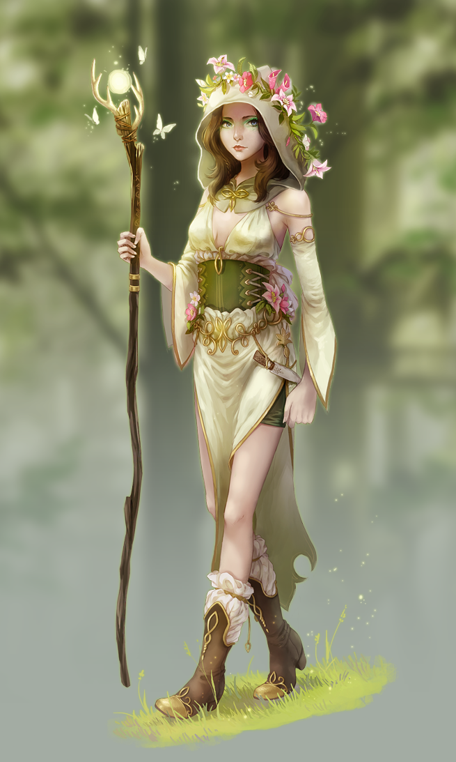 Noob Mage By Joshcorpuz85 Female Druid Witch Sorceress: Forest Mage By Meago On DeviantArt