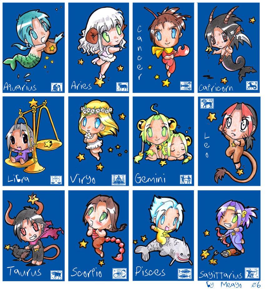 Anime Characters Leo Zodiac : Zodiac by meago on deviantart