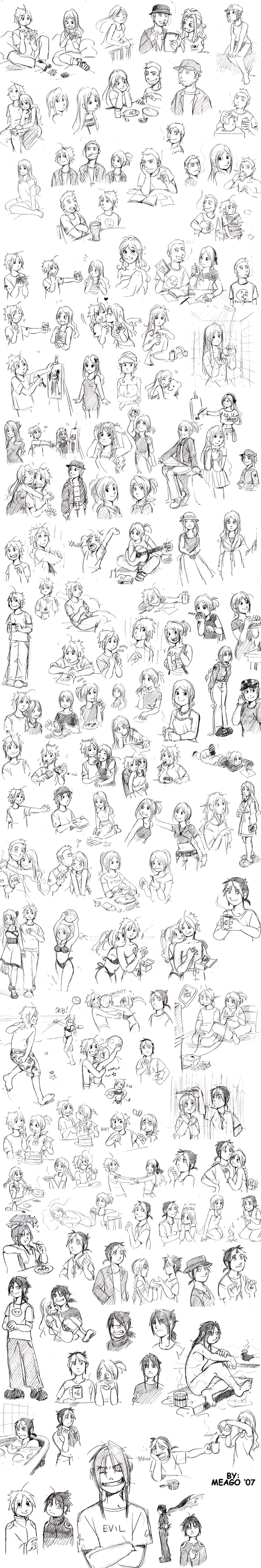new sketches by meago